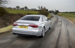 Audi S8 plus, rear, action