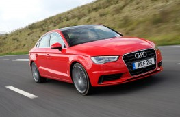 Audi A3 Saloon, front, action