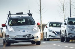 Autonomous Nissan Leaf on the Grand Drive