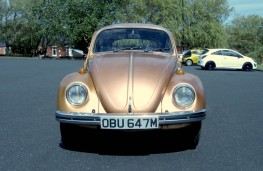 Barry Openshaw's new gold Volkswagen Beetle