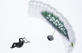 Bear Grylls prepares to land