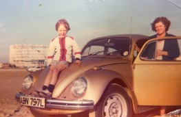 Barry with the original Beetle in Southport during the 1970s