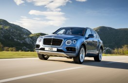 Bentley Bentayga Diesel, 2017, front, action