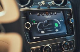 Bentley Bentayga Hybrid touch screen graphic