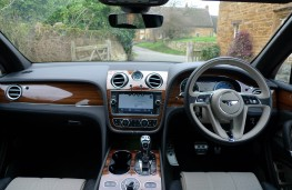 Bentley Bentayga, dashboard