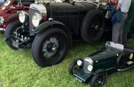 Cholmondeley Power and Speed 2016, Bentley 8l and model, 1929