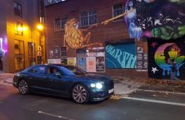 Bentley Flying Spur, street art