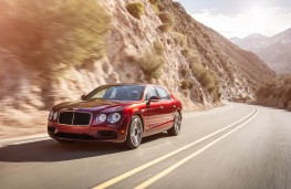 Bentley Flying Spur V8 S, 2016, front, action