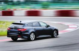 Kia Optima Sportstwagon, rear, testing at Namyang