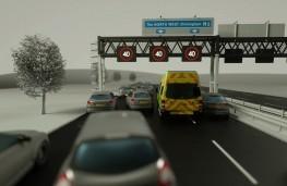 Emergency corridor on smart motorway
