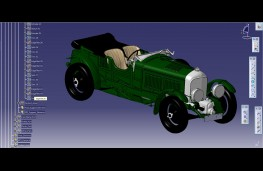 CAD image of Bentley Blower, front