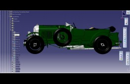 CAD image of Bentley Blower, side