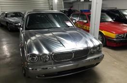 British Motor Museum, 2002 Jaguar XJR in polished aluminium