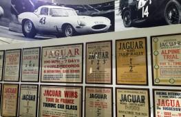 British Motor Museum, Jaguar Hall of Fame poster wall