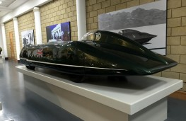 British Motor Museum, 1938 MG EX135 which set 1939 200mph speed record for 1,100cc vehicles