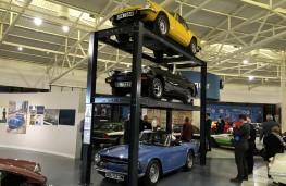 British Motor Museum, British roadsters – Triumph Spitfire (top), MG Midget, Triumph TR6