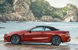 BMW M8 Competition Convertible side, top up