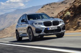 BMW X3-M Competition front action