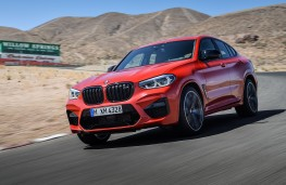 BMW X4-M Competition front threequarter action