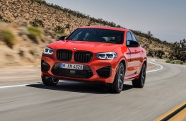 BMW X4-M Competition head-on action