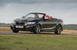 BMW M240i Convertible, action front