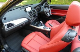 BMW M240i Convertible, front seats