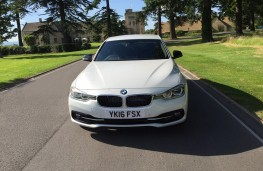 BMW 330e Sport Saloon, front, static
