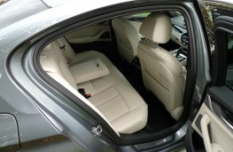 BMW 520d M Sport, rear seats