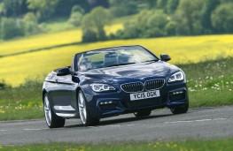 BMW 640d M Sport Convertible, front action