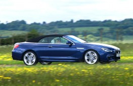 BMW 640d M Sport Convertible, side action hood up