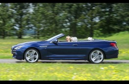 BMW 640d M Sport Convertible, side action