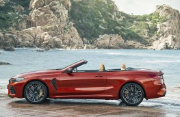 BMW M8 Competition Convertible side, top down