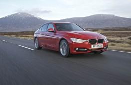 BMW 320d Sport, front, action