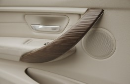 BMW 3 Series, wood trim, detail