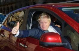 Boris Johnson in Nissan Leaf