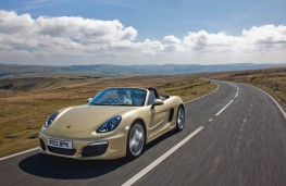 Porsche Boxster, front, action