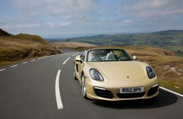Porsche Boxster, head on