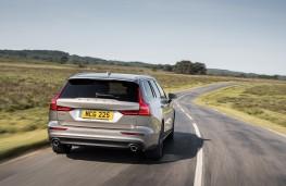 Volvo V60, 2018, rear, action