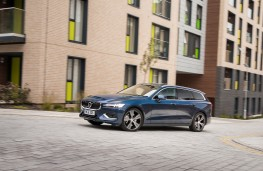 Volvo V60, 2018, side, action