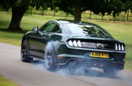 Ford Mustang Bullitt, rear, action