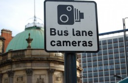 Bus lane camera sign