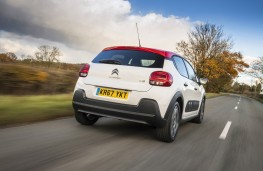 Citroen C3, 67 plate, rear, action