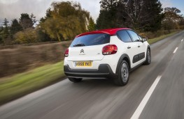 Citroen C3, 2017, rear, action