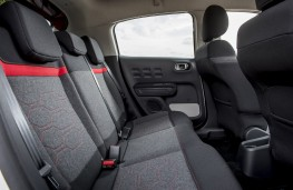 Citroen C3, 2017, rear seats