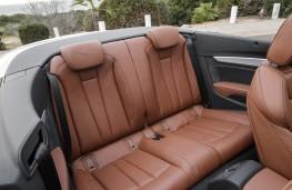 Audi A5 Cabriolet, 2017, rear seats