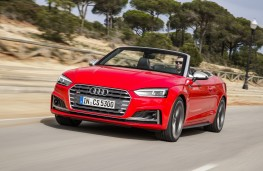 Audi S5 Cabriolet, 2017, front, action