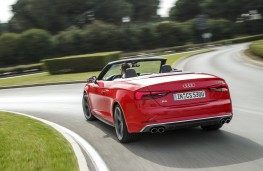 Audi S5 Cabriolet, 2017, rear, action