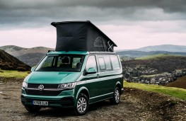 Volkswagen California, 2020, front, roof extended