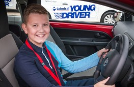 Young driver Callum McNeilly, 2015, 11-13 age group winner