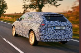 Camouflaged Skoda Scala rear action